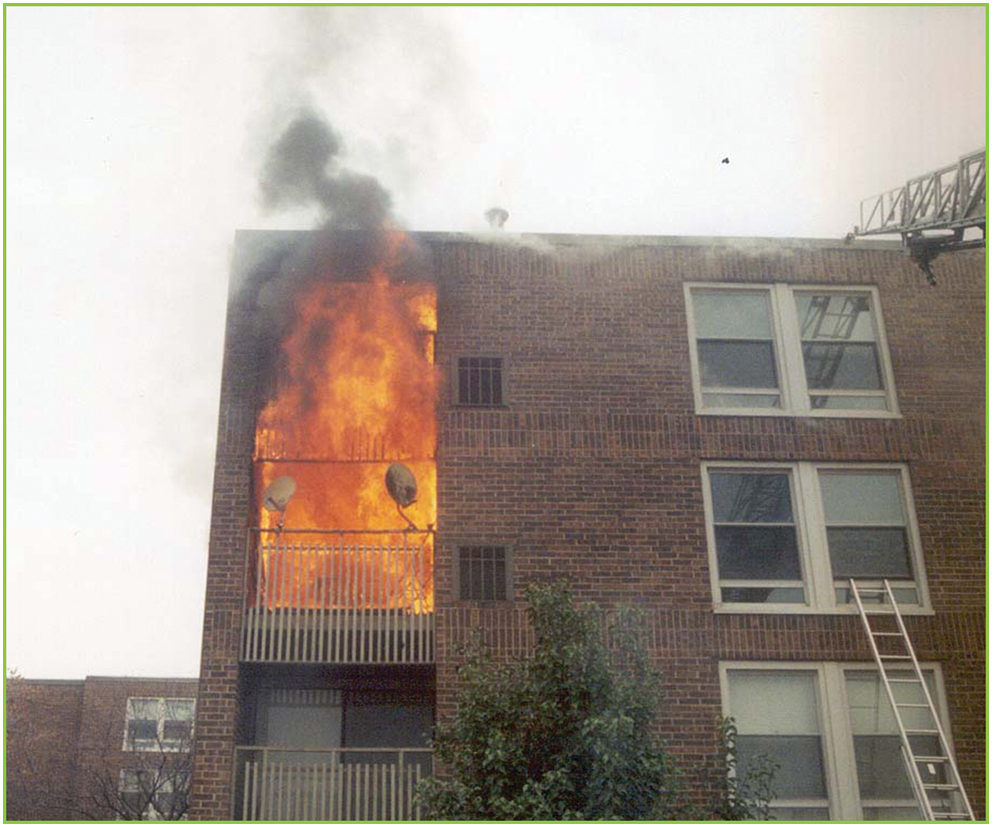 Apartment fire contained by airkrete!